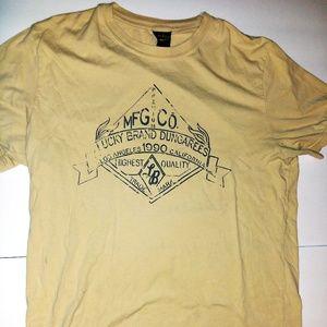 Lucky Brand Dungarees T-shirt Yellow Sz Large